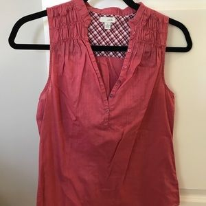 Anthropologie Odille red sleeveless top